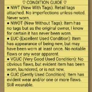 Other - CLOSET CONDITION GUIDE